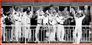 Mark Nicholas lifts the B&H Cup, Lord's, 1988
