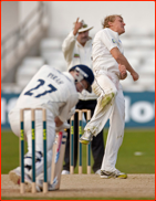 Scott Borthwick celebrates the final wicket, Rich Pyrah