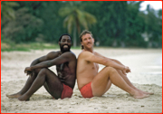 Viv Richards & Ian Botham, Antigua, West Indies.