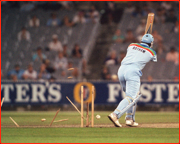 Out...Ian Botham, 1992 World Cup Final, Melbourne, Australia.