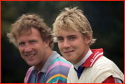 England father & son, Chris & Stuart Broad, Canterbury, England.