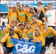 Celebrations after winning the C&G Trophy, 2005