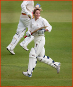 Former England captain, Clare Connor, MCC v Lords & Commons, 2011.