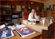 Former Secretary, Peter Edwards in his office