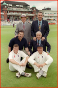 England's Test centurions, Old Trafford, Manchester, England.