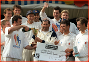 Essex celebrate winning the 1992 county championship