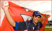 Alastair Cook celebrates after the FPT Final at Lord's
