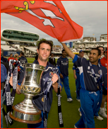 Mark Pettini & Ravi Bopara after the 2008 FPT Final