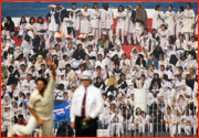 Women only stand, Pakistan v England, Faisalabad Test, Pakistan.