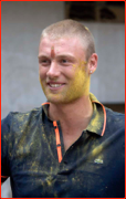Andrew Flintoff, Holy Day, Mumbai, India.