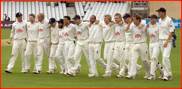 Sussex walk off after winning the championship, 2006