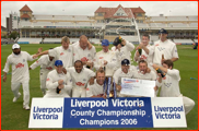Sussex celebrate winning the county championship, 2006