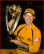 Australian captain Ricky Ponting lifts the World Cup, Barbados, West Indies.