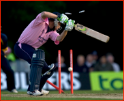 Ben Hutton is bowled by Chris Tremlett