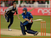 Luke Wright hit by Morne Morkel, Canterbury, England.
