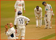 Spinner James Tredwell about to start another over