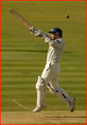 David Nash off the bowling of Jason Gillespie during his 95