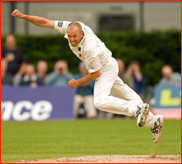 Charl Willoughby bowling
