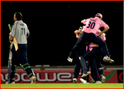 Players celebrate the 2008 Twenty20 final win v Kent
