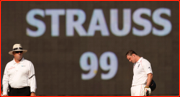 No pressure...Andrew Strauss, Chennai Test, India.