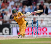 Alex Blackwell is bowled, England v Australia at the Oval.
