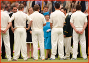 The Australian Team meets the Queen during the Test.
