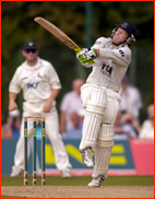 Ed Joyce during his century v Nottinghamshire at Horsham