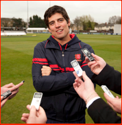 Alastair Cook, press day, 2011