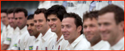 Alastair Cook and friends, press day, 2011