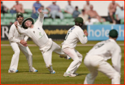 Captain Daryl Mitchell doesn't catch Chris Woakes