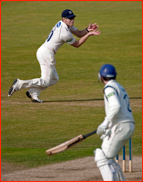 James Anyon catches James Vince