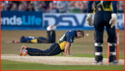 Scott Styris (and Tim Southee) down, T20 match v Sussex