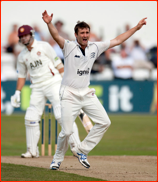 Tim Murtagh appeals as James Middlebrook is lbw