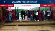 Torrential rain, Kent v The Indians, Canterbury, 2011