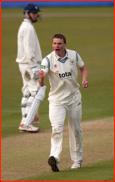Will Gidman celebrates v Hampshire, Soton, 2012