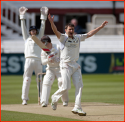 Tim Murtagh appeals as Gareth Batty is lbw, 2012
