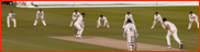 Slips wait as Steven Finn bowls to Phil Mustard, 2012