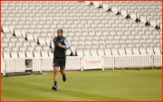 Kevin Pietersen trains alone, Lord's Test, 2012