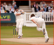 Joe Denly off the bowling of Luke Wright, Lord's, 2012