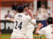 Dawid Malan watches as he's caught by Ed Joyce, 2012