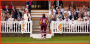 Chris Gayle walks off, Middlesex v West Indians, 2012
