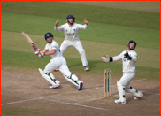 Porterfield & Ambrose watch Luke Wright bat, Hove, 2012