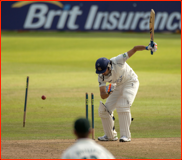 Amjad Khan bowled by Andy Carter, 2012