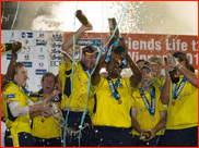 Hampshire celebrate winning the 2012 FLt20 Final