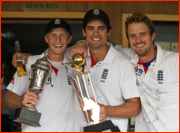 Root, Cook & Compton celebrate v India, 2012