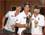 Pietersen, Cook & Prior after England's historic win in India