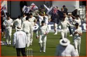 Brendon McCullum leads NZ out, Headingley Test, 2013