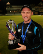 Captain Brendon McCullum after the ODI win in England