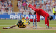 Mitchell Johnson in past Jos Buttler, England v Australia, ICC Champions Trophy, 2013