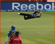 Brendon McCullum catches Kusal Perera, 1st ball of game
